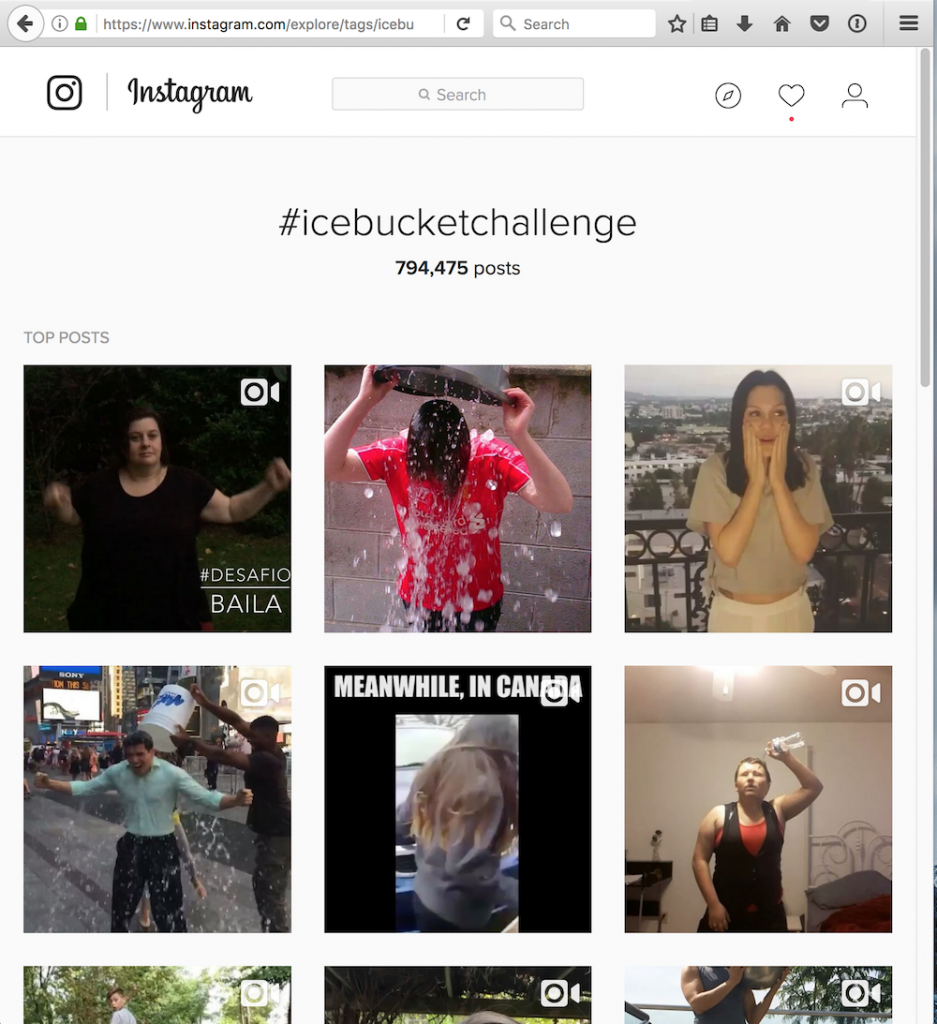 ice bucket challenge instagram flashmob